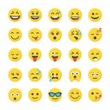 Smiley Flat Icons Set illustrazione vettoriale