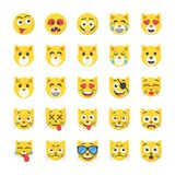 Smiley Flat Icons Set Fotos de archivo libres de regalías