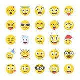Smiley Flat Icons Set illustration stock