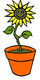 Smiley flower. Vector illustration of a smiley sunflower Stock Images