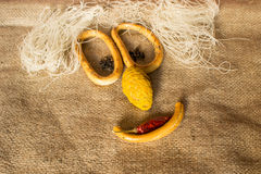 Smiley food ingredients Royalty Free Stock Images