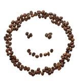 Smiley-Gesicht und Kaffee Stockfotografie