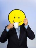 Smiley-Gesichts-Mann Lizenzfreie Stockbilder