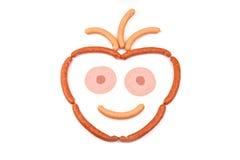 Smiley-Gesichts-Wurst Lizenzfreie Stockbilder