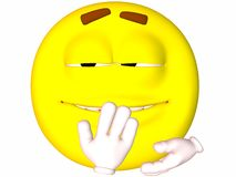Smiley-Giggle. 3D Render of an Smiley-Giggle Royalty Free Stock Images