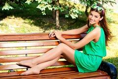 Smiley Girl Stock Foto