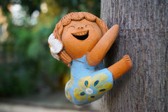 Smiley girl doll. Shooted at wide aperture Royalty Free Stock Image