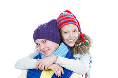 Smiley girls royalty free stock photography