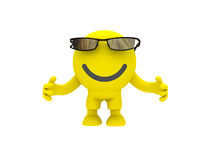 The smiley in a glasses Royalty Free Stock Image