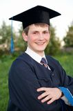 Smiley graduate student Stock Image
