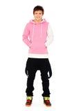 Smiley guy in pink sweatshirt Stock Images