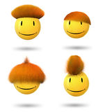 Smiley with hair Royalty Free Stock Photography