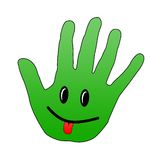 Smiley Hand Royalty Free Stock Photos
