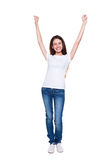 Smiley happy girl Stock Images