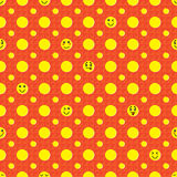Smiley happy seamless pattern Royalty Free Stock Photo