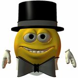 Smiley-Hat and Tie Royalty Free Stock Photography