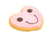 Smiley heart cookies Stock Photo