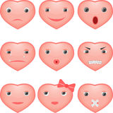 Smiley hearts Royalty Free Stock Photos