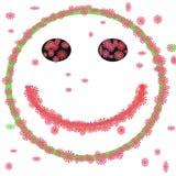 Smiley hecho de las flores Imagen de archivo