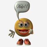 Smiley-Help. 3D Render Stock Images