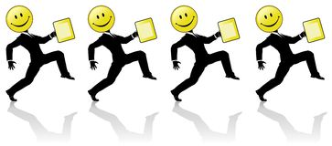 Smiley High Step Business People Team Dance royalty free illustration