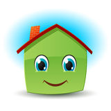 Smiley house. Vector icon Stock Image