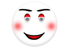 Smiley Hypnotized Ilustração Stock