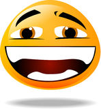 Smiley icon. Yellow smiley face icon laughing Royalty Free Stock Images