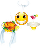 Smiley icon. Cook Stock Image