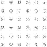 Smiley icon set Stock Photos