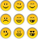 Smiley icons. Royalty Free Stock Photography
