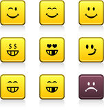 Smiley icons. Stock Image
