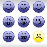 Smiley icons. Stock Photos