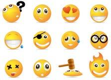 Smiley icons. Part of milo icon set Royalty Free Stock Image