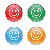 Smiley icons. Colorful icons for the web with smiley Stock Image