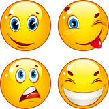 Smiley icons Stock Images