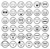 Smiley Icons, Emoticons, expressões faciais, Internet Fotografia de Stock Royalty Free
