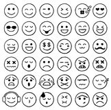 Smiley Icons, Emoticons, Facial Expressions, Internet. Vector Illustration of Smiley Icons. Best for Expressions, Mobile, Social Media, Internet, Design Element Stock Illustration