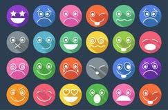 Smiley Icons Flat Design Lizenzfreie Stockbilder
