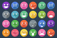 Smiley Icons Flat Design Royalty Free Stock Images