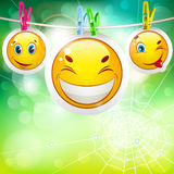 Smiley icons Royalty Free Stock Photos