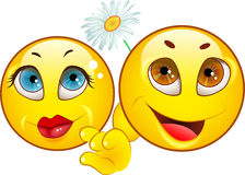 Smiley icons. LOVE Royalty Free Stock Photography