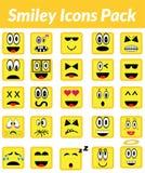 Smiley Icons Pack (guling) Royaltyfria Bilder