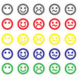Smiley icons set Stock Photo