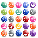 Smiley Icons Shiny Ball Fotos de Stock