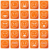Smiley icons Stock Photos