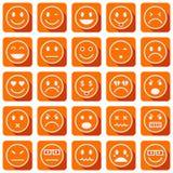 Smiley icons stock illustration