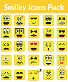 Smiley ikon paczka (kolor żółty) Obrazy Royalty Free