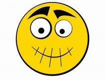 Smiley-Ikone sprechen nicht Lizenzfreie Stockfotos