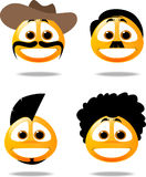 smiley ikony Obrazy Stock